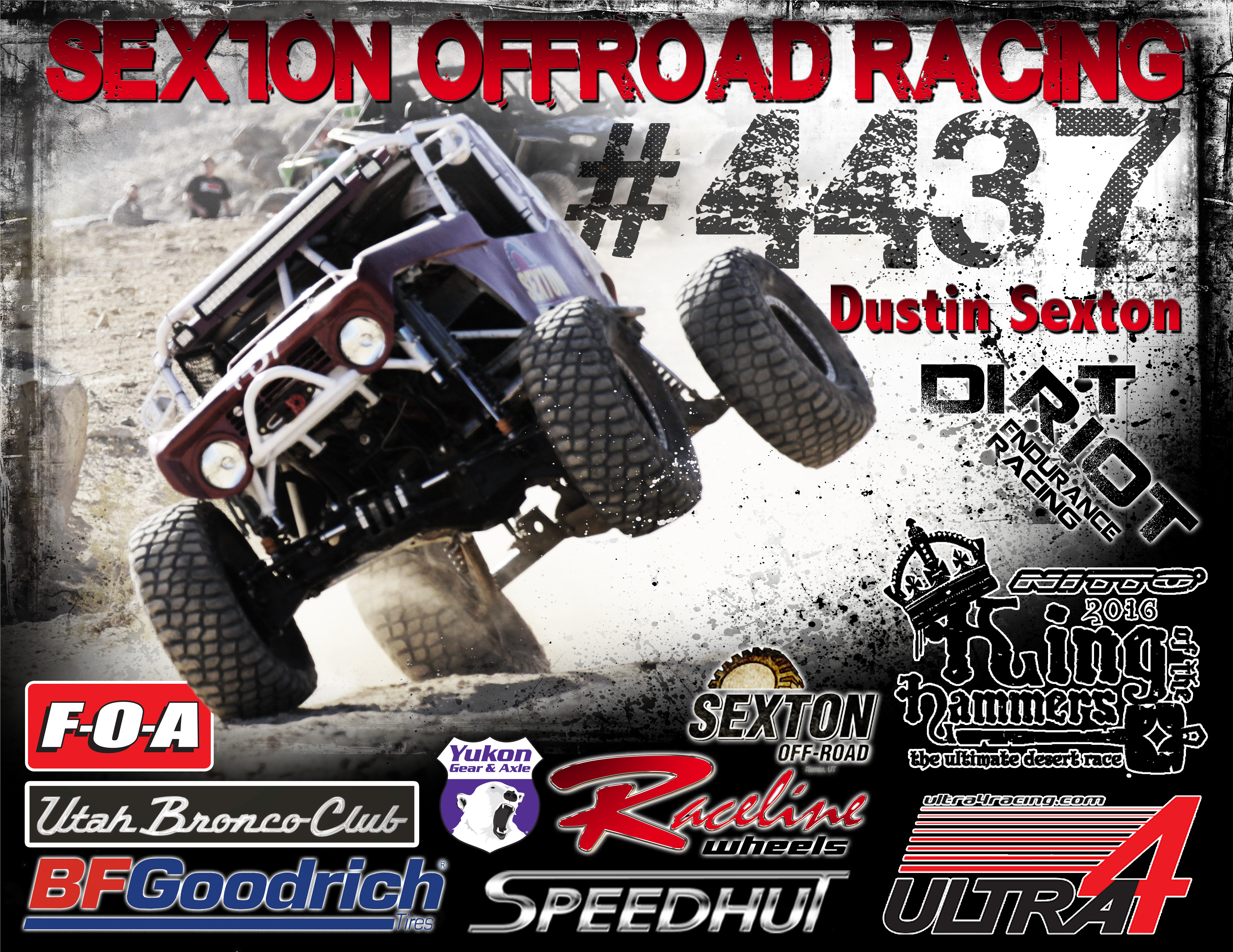 Sexton Offroad Racing Poster