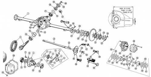 Drivetrain and Differential - Axle Shafts, Seals and Parts