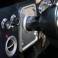 Bronco Script Billet Steering Column Bezel