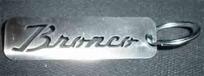 Sexton Off-Road - Bronco Script Keychain - Image 1
