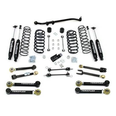 97-06 Wrangler TJ - Wrangler TJ Suspension - Teraflex Suspension - Teraflex 3 Inch FlexArm Lift Kit with 9550 Shocks