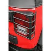 Rampage Black Taillight Guards 07-10 Jeep JK