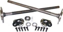Rear Axle parts - Axle Kit - Rear - Yukon Gear & Axle - One piece short axles for Model 20 '76-'3 CJ5, and '76-'81 CJ7 with bearings and 29 splines, kit.