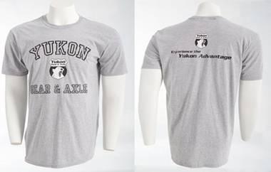 Apparel and Accessories - Apparel - Yukon Gear & Axle - Yukon gray tee-shirt, size XXL.