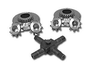 Drivetrain and Differential - Spider Gears & Spider Gear Sets - Yukon Gear & Axle - Eaton-type Side Gear, Pinion Gear, and Cross Pin for 55P Chevy. No clutches.