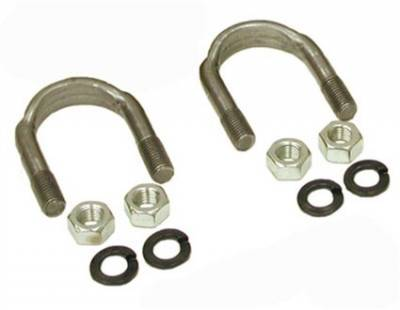 "Drivetrain and Differential - Yoke Strap & U-Bolt Kits - Yukon Gear & Axle - 1310 and 1330 U/Bolt kit (2 U-Bolts and 4 Nuts) for 9"" Ford."