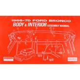 Parts By Vehicle - Bronco Parts - Manual Book 1966 - 70