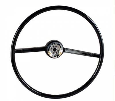 66-77 Classic Bronco - Classic Bronco Interior - Steering Wheel Black - Factory Style 1966 - 73