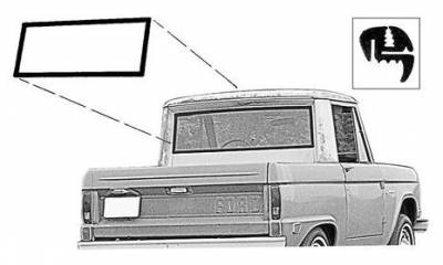 Parts By Vehicle - Parts for Ford - Back Glass Seal 1966 - 77