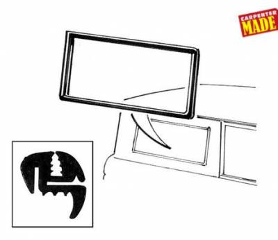 Bronco Parts - 66-77 Classic Bronco - Body Side Window Seal 1967 - 77