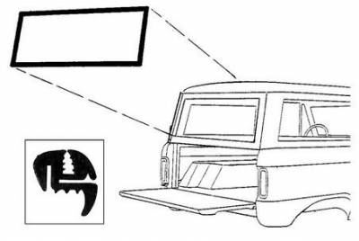 66-77 Classic Bronco - Classic Bronco Replacement Body Parts - Back Glass Seal 1966 - 77