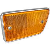 66-77 Classic Bronco - Classic Bronco Replacement Body Parts - Fender Reflector - Left Amber 1968 - 69