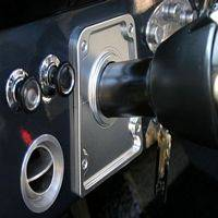 Interior Accessories - Bronco Script Billet Steering Column Bezel