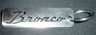 Shop by Category - Interior Accessories - Sexton Off-Road - Bronco Script Keychain