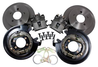 "Drivetrain and Differential - Disc Brake Kits - Yukon Gear & Axle - Yukon disc brake conversion kit for Ford 9"" & 8.8""."